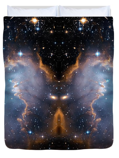 Cosmic Butterfly Duvet Cover by Jennifer Rondinelli Reilly - Fine Art Photography