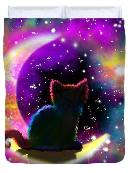 Cosmic Cat Duvet Cover