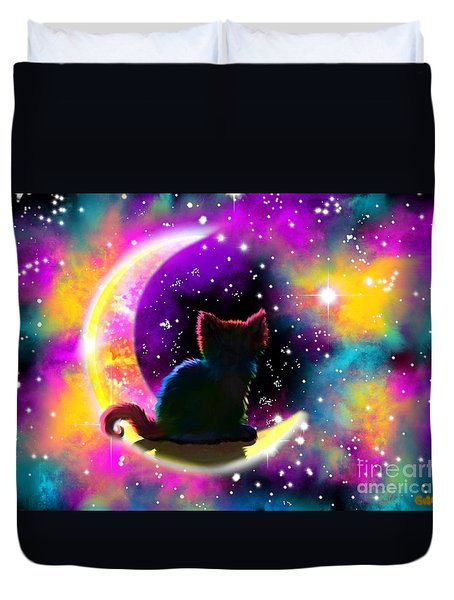 Cosmic Cat Duvet Cover