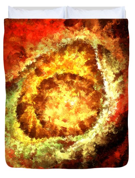 Cosmic Flares Duvet Cover by Lourry Legarde