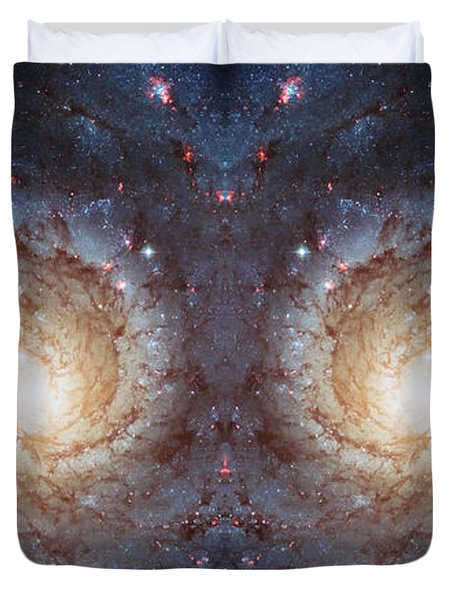 Cosmic Galaxy Reflection Duvet Cover by Jennifer Rondinelli Reilly - Fine Art Photography