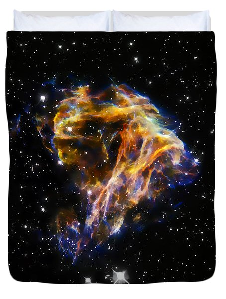 Cosmic Heart Duvet Cover by Jennifer Rondinelli Reilly - Fine Art Photography