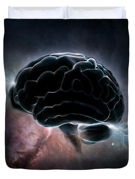 Cosmic Intelligence Duvet Cover