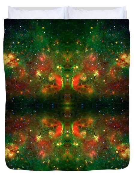 Cosmic Kaleidoscope 3 Duvet Cover by Jennifer Rondinelli Reilly - Fine Art Photography