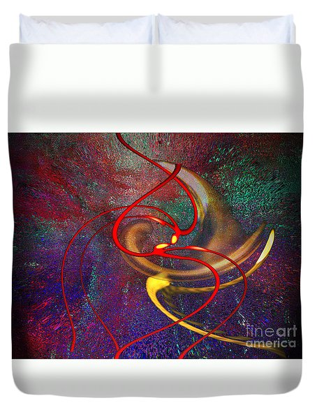 Cosmic Kiss Duvet Cover