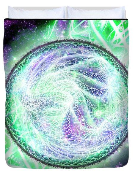 Cosmic Lifestream Duvet Cover
