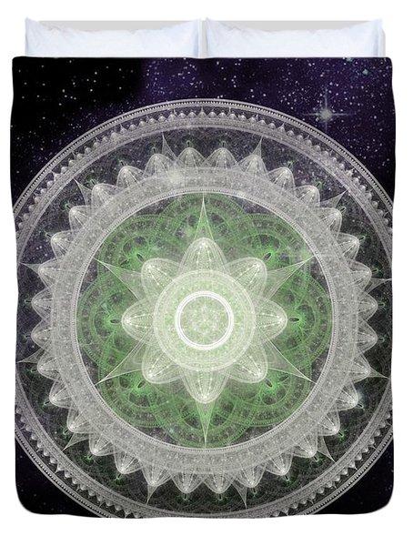 Cosmic Medallions Earth Duvet Cover