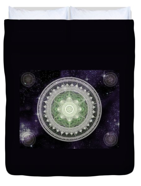 Cosmic Medallions Earth Duvet Cover