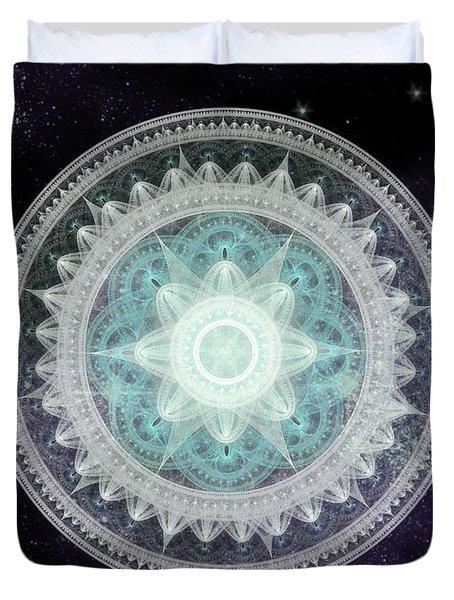 Cosmic Medallions Water Duvet Cover
