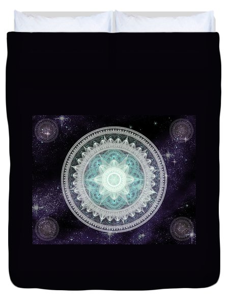 Cosmic Medallions Water Duvet Cover
