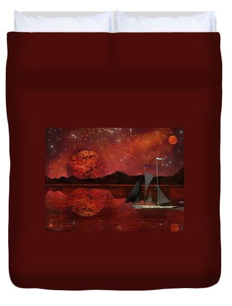 Cosmic Ocean Duvet Cover by Michael Rucker
