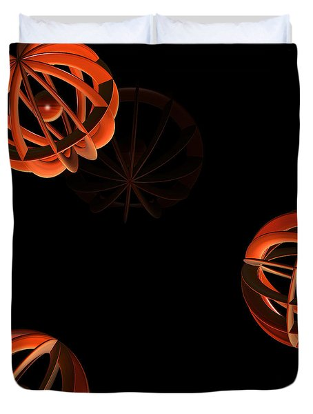 Cosmic Pumpkins By Jammer Duvet Cover by First Star Art