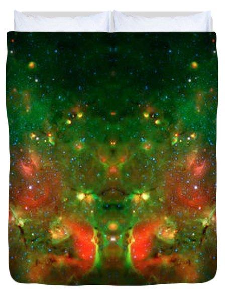 Cosmic Reflection 1 Duvet Cover by Jennifer Rondinelli Reilly - Fine Art Photography
