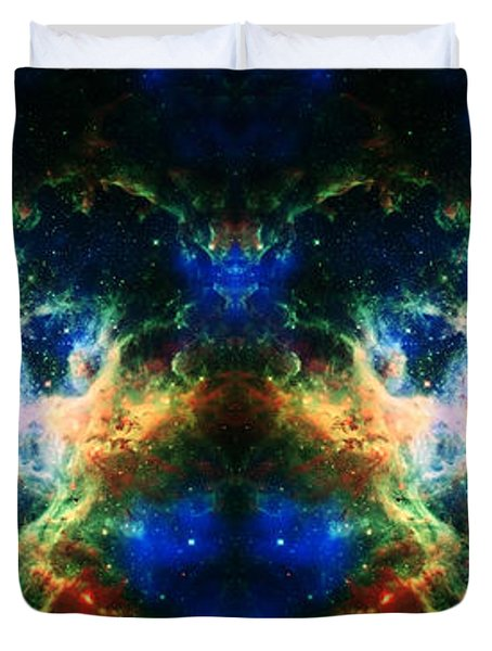 Cosmic Reflection 2 Duvet Cover by Jennifer Rondinelli Reilly - Fine Art Photography