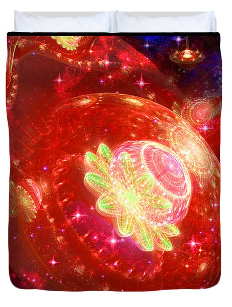 Cosmic Space Station 2 Duvet Cover