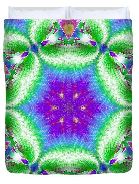 Cosmic Spiral Kaleidoscope 10 Duvet Cover by Derek Gedney