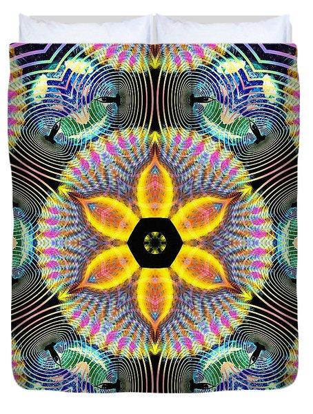 Cosmic Spiral Kaleidoscope 13 Duvet Cover by Derek Gedney