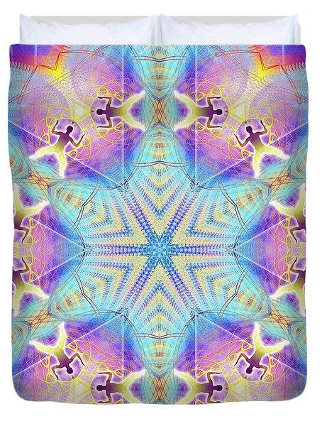 Cosmic Spiral Kaleidoscope 17 Duvet Cover by Derek Gedney