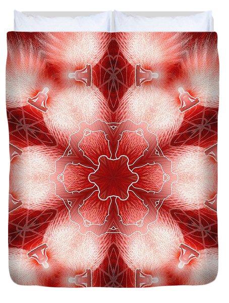 Cosmic Spiral Kaleidoscope 22 Duvet Cover by Derek Gedney