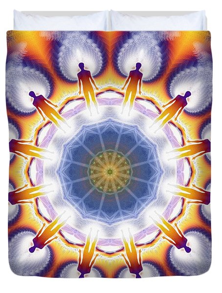 Cosmic Spiral Kaleidoscope 34 Duvet Cover