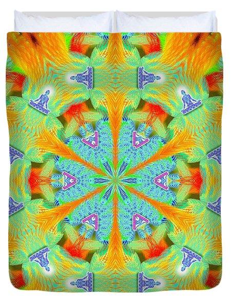 Cosmic Spiral Kaleidoscope 41 Duvet Cover by Derek Gedney