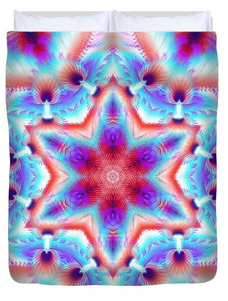 Cosmic Spiral Kaleidoscope 45 Duvet Cover by Derek Gedney
