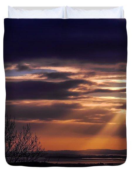 Cosmic Spotlight On Shannon Airport Duvet Cover