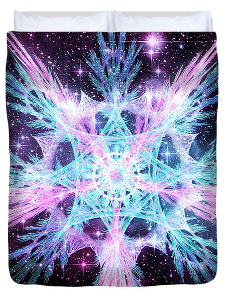 Cosmic Starflower Duvet Cover