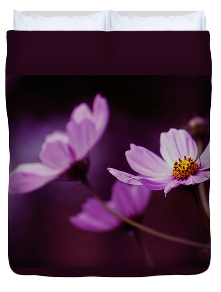 Duvet Cover featuring the photograph Cosmo After Glow by Kay Novy