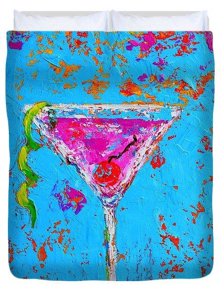 Cosmopolitan Martini Cherry Flavored - Modern Art Duvet Cover
