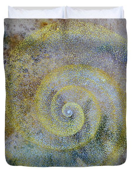 Duvet Cover featuring the painting Cosmos by Suzette Kallen
