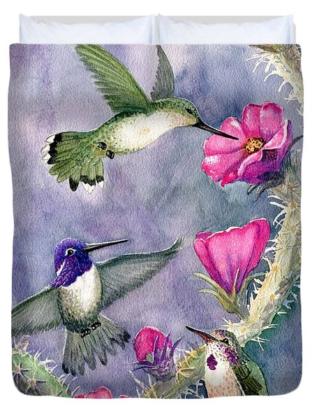 Costa Hummingbird Family Duvet Cover