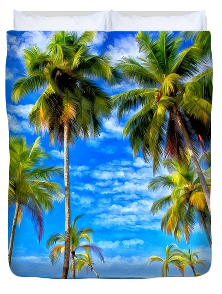 Costa Rican Paradise Duvet Cover by Michael Pickett