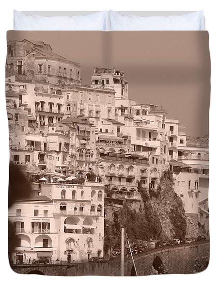 Costiera Amalfitana Duvet Cover
