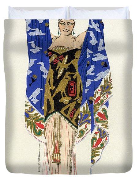 Costume Design For A Dancing Girl Duvet Cover by Leon Bakst