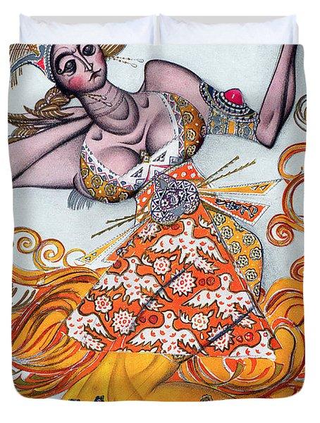 Costume Design For A Pas De Deux Danced Duvet Cover