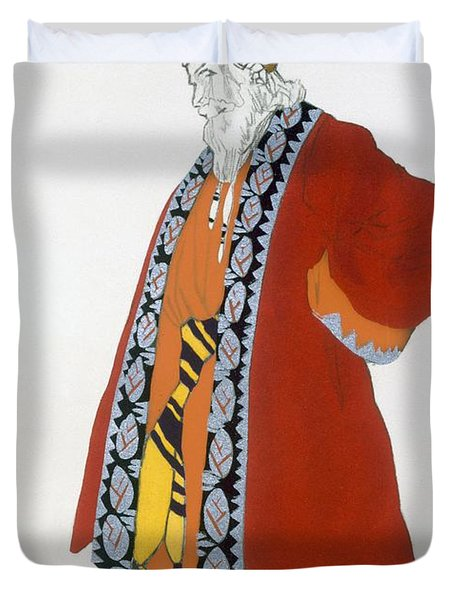 Costume Design For An Old Man In A Red Duvet Cover