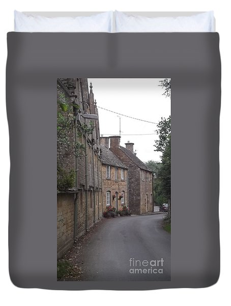 Cotswold Cottages Duvet Cover by John Williams