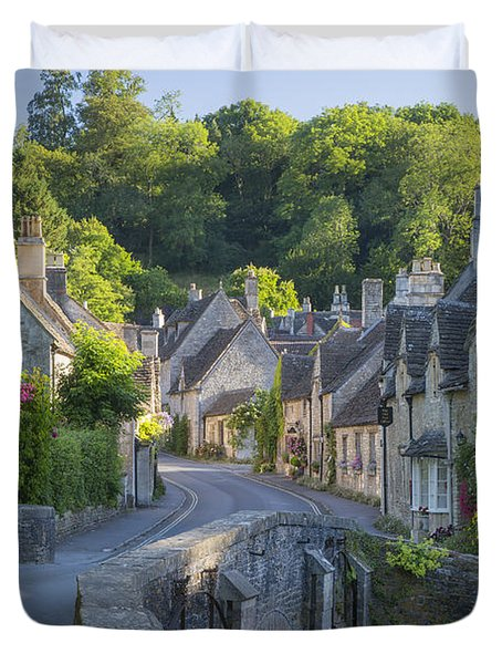 Cotswold Village Duvet Cover by Brian Jannsen