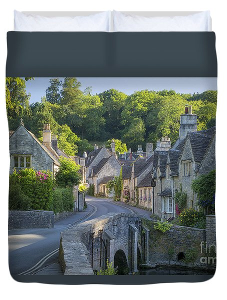 Duvet Cover featuring the photograph Cotswold Village by Brian Jannsen