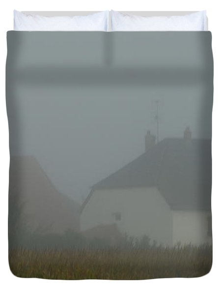 Cottage In Mist Duvet Cover