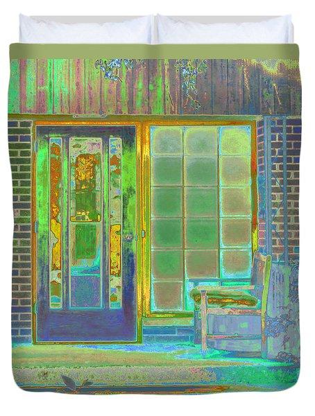 Cottage Porch Duvet Cover