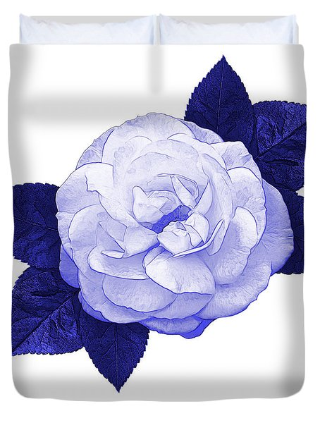 Duvet Cover featuring the photograph Cottage Rose by Jane McIlroy