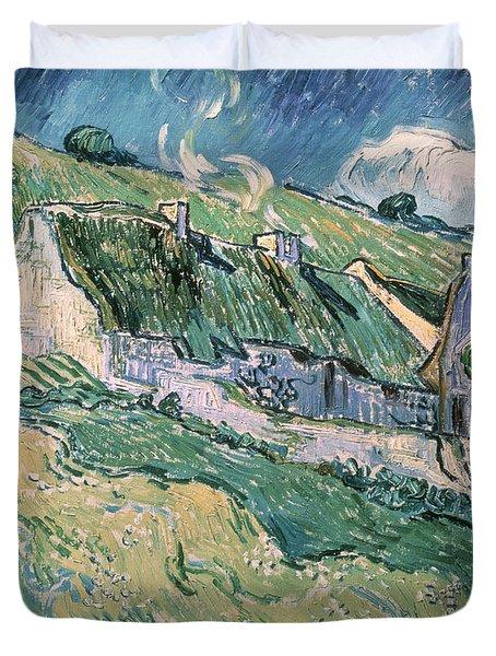 Cottages At Auvers Sur Oise Duvet Cover by Vincent Van Gogh