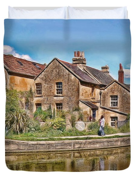 Cottages At Avoncliff Duvet Cover