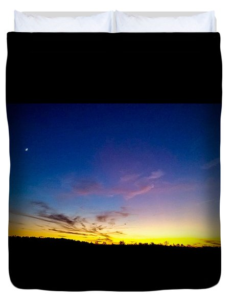 Duvet Cover featuring the photograph Cotton Candy Clouds by Jean Haynes