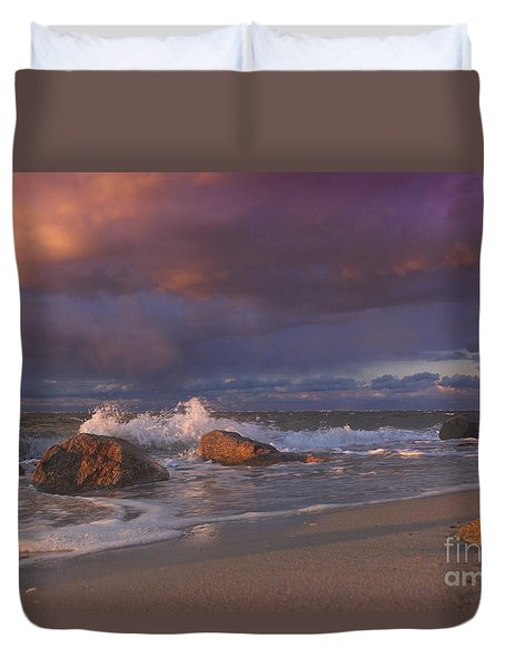 Cotton Candy Sunset Duvet Cover by Amazing Jules