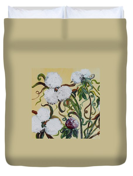 Cotton Squared Duvet Cover by Eloise Schneider