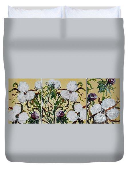 Cotton Triptych Duvet Cover by Eloise Schneider