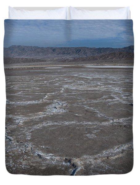 Cottonball Basin At Death Valley Duvet Cover